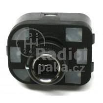 Ovládání vypínač zpětných zrcátek Seat Exeo, chrom, 8R0959565