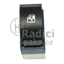 Ovládání vypínač stahování oken Fiat Doblo, modro bílý, 735417034