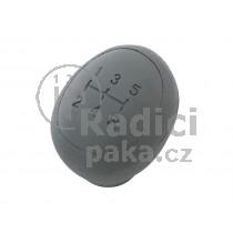 Hlavice řadící páky Fiat Albea, 5 stupňová šedá