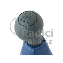 Řadící páka s manžetou Fiat Doblo I, 5 stupňová, šedě modrá