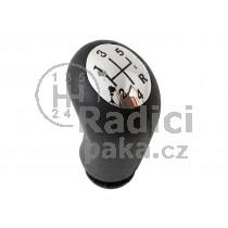 Hlavice řadící páky Renault Scenic II, 5 stupňova, lesklý chrom - černá schéma1