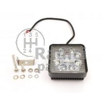 LED Pracovní světlo 27W, čtvercové