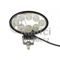 LED Pracovní světlo 24W, elipsa