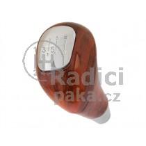 Hlavice řadící páky Mercedes Vito W638, 6 stupňová, chrom+dřevo dekor