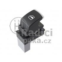 Ovládání vypínač stahování oken Seat Ibiza 5ND959855, chrom