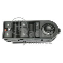 Ovládací panel vypínač stahování oken Opel Astra III H, 13228877, 13228699