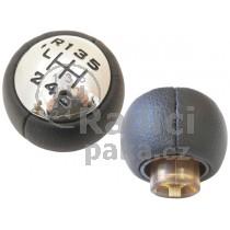 Hlavice řadící páky Citroen Berlingo, 6 stupňová, lesklý chrom, černá schéma