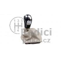 Řadící páka s manžetou Škoda Octavia II, 5 stupňová, béžová