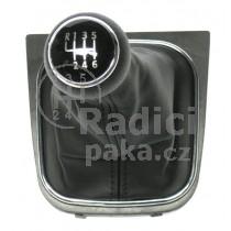 Řadící páka s manžetou pro VW Eos, 6 stupňová, chromový rámeček, 2006 - 2012