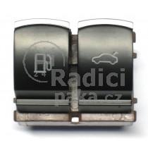 Ovládání vypínač otvoru nádrže a kufrových dveří VW Passat CC, chrom