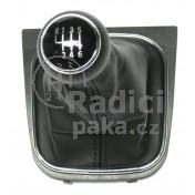 Řadící páka s manžetou pro VW Touran, 6 stupňová, chromový rámeček, 2009 - 2012